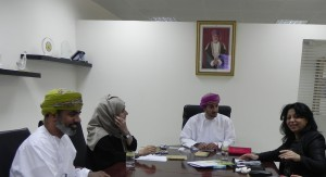 Meeting with President of the Equestrian Center Sultan Qaboos in Sult anate of Oman
