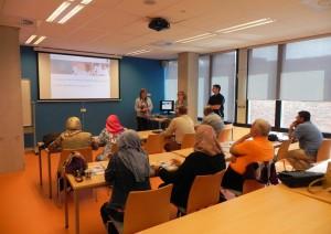 Kirkuk uni. group in Leiden University-Holland (Training)